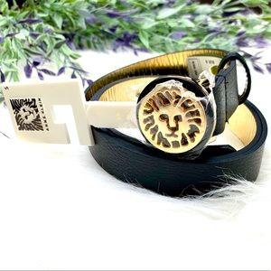 Anne Klein | Logo Gold Black Belt
